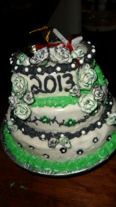 Cheesecake Fondant, Cheesecake Butter Cream Frosting, Vanilla Cake with Green Sprinkles throughout!