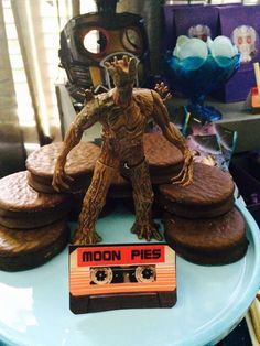 Moon pies at a Guardians Of The Galaxy birthday party! See more party ideas at CatchMyParty.com!