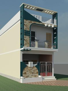 Top 30 Modern House Design Ideas For 2020 - Engineering Discoveries House Front Wall Design, House Outer Design, Village House Design, Unique House Design, Bungalow House Design, Narrow House Designs, Indian House Plans, Modern House Facades, Architectural House Plans