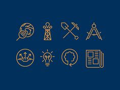 Geophysics Icons by Makers Company #Design Popular #Dribbble #shots