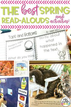Looking for some new spring read alouds to share with your kindergarten and first grade students? In this post, I share some of the best read aloud books, as well as some kindergarten lesson ideas to go along with those books. At the bottom of the post, there is even a set of free kindergarten worksheets, so you can try out my reading unit!
