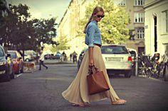 Plisserad nederdel