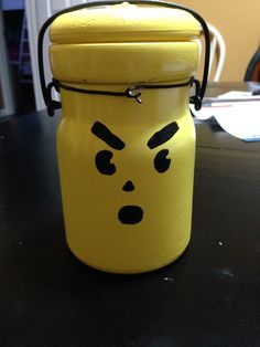 Yellow pumpkin jar