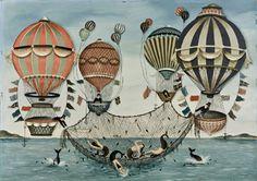 Ralph Cahoon catching mermaids painting