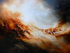 """Large Canvas Abstract Oil Painting by Simon Kenny """" Forge"""" Now on Sale"""