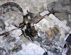 Abstract in acryl   3D.  70 x 1.00 cm.  eigen werk. verkocht