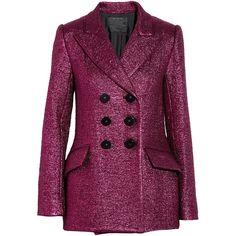 Marc Jacobs Metallic bouclé wool-blend jacket ($2,000) ❤ liked on Polyvore