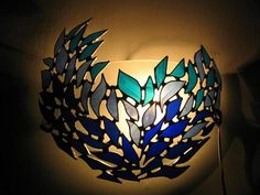 Items similar to Decorated stained glass lamp on Etsy