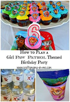 like the matching color coded cupcakes! How to Plan a Girl Paw Patrol Themed Birthday Party