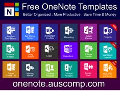 Onenote Template, Notes Template, Planner Template, Schedule Templates, One Note Microsoft, Microsoft Excel, Microsoft Office, One Note Tips, Microsoft Applications