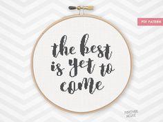 Stitch this modern, black & white counted cross stitch pattern inspirational…