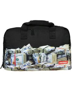 Sprayground's Printed Duffle Bag is Inspired by Bags of Cash #travel trendhunter.com
