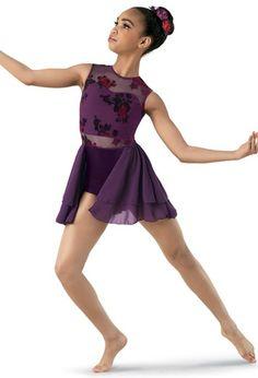 Weissman® | Burnout-Mesh Dress with Back Skirt