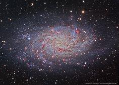 M33 NGC 598 Triangulum Galaxy LRGB+HA by Terry Hancock www.downunderobservatory.com, via Flickr
