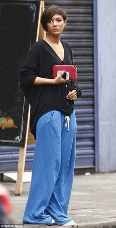 BOYFRIEND sweatpants IN BLUE SIZE XS UK 8 10 BY VICTORIA SECRET PINK
