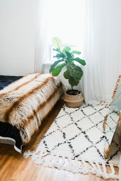Shop domino for the top brands in home decor and be inspired by celebrity homes and famous interior designers. domino is your guide to living with style. Cozy Bedroom, Dream Bedroom, Bedroom Decor, White Bedroom, Teen Bedroom, Interior And Exterior, Interior Design, Patterned Carpet, Patterned Curtains