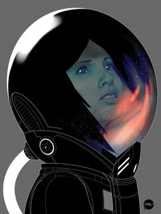 Astrogirl by Francisco Perez Pac23, via Behance