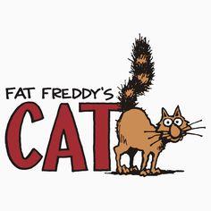 Fat Freddy/'s Cat Cover Vintage Adult Comic Logo Men/'s T-Shirt