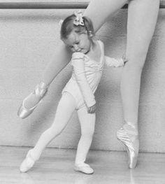 Dance - ballet - cute capture - little girl and grown ballerina photo