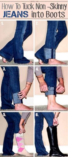 How to tuck non-skinny jeans into your boots