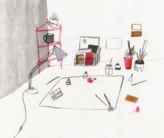 desktop by kaye blegvad, via Flickr