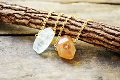 Raw Stone Agate Necklace