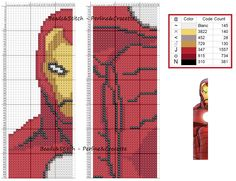 Iron man, Avengers - marque page Cross Stitch For Kids, Cross Stitch Books, Cross Stitch Bookmarks, Beaded Cross Stitch, Cross Stitch Charts, Cross Stitch Designs, Cross Stitch Embroidery, Cross Stitch Patterns, Disney Bookmarks