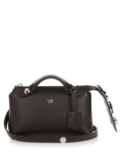 FENDI By The Way Mini Crystal-Tail Cross-Body Bag. #fendi #bags #shoulder bags #hand bags #lining #leather #crystal #