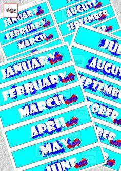 ADESIVI STAMPABILI per planner e Midori con MESI 2018 per - ADESIVI STAMPABILI per planner e Midori con MESI 2018 per agenda diario packaging - A4 A5 pdf - download instantaneo - diy