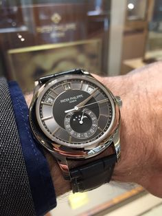 Patek Philippe Annual Calendar ref 5205G /// Founded 170 years ago, GOBBI 1842 is an official retail store for refined jewelleries and luxury watches such as Patek Philippe in Milan. Check the website : http://www.gobbi1842.it/?lang=en