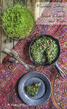 Norouz Twist on Kookoo Sabzi (Persian Herb Quiche with Chard and Kale) - Family Spice