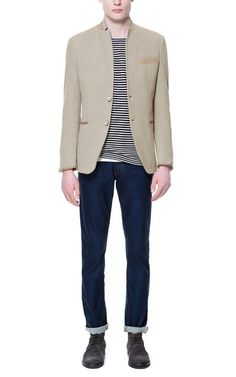 Image 1 of BLAZER WITH PIPING AND POCKETS from Zara