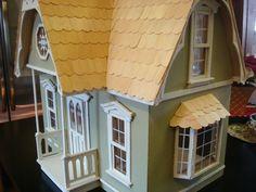Dollhouse assembled doll house by shardsoglass on Etsy, $125.00
