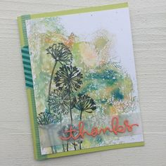 Dendritic by - Cards and Paper Crafts at Splitcoaststampers Cd Cases, Page Protectors, Thank You Cards, Watercolour, Stamping, Card Ideas, Appreciation, Artsy, Sketches
