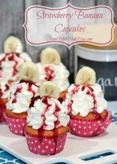 Looking for a new cupcake recipe? Take a look at this Strawberry and Banana Cupcakes recipe for Valentine's Day and beyond. It's great all