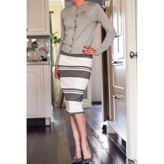 Fancy Sunday  #ootd #ElizabethandJames skirt #Gap sweater #GianvitoRossi pumps #Chanel brooch
