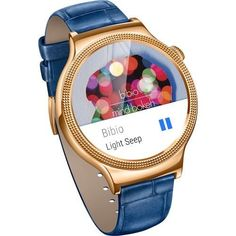 Huawei Smartwatch for iPhone Android Smartphones- Gold / Sapphire Blue | eBay