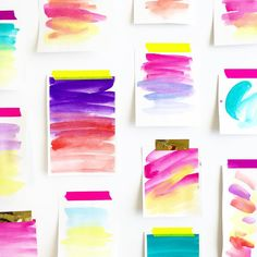 Watercolors by Courtney Shelton / HIBRID | #watercolor #painting #design #moodboard