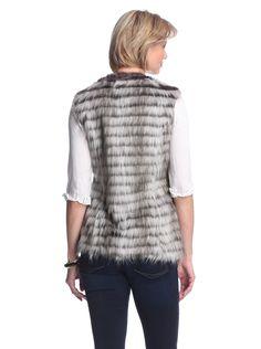 Amazon.co.jp: ビア スピガ [ Via Spiga ] レディース フェイク ファーベスト グレー Women's Faux Fur Vest Grey :M [並行輸入品]: 服&ファッション小物通販