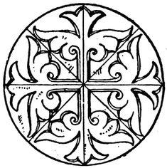 Byzantine Circular Panel | ClipArt ETC