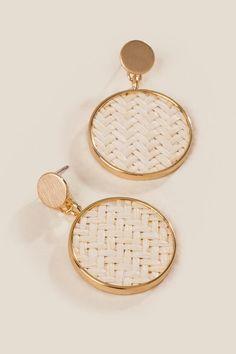 Fairfield Raffia Earrings