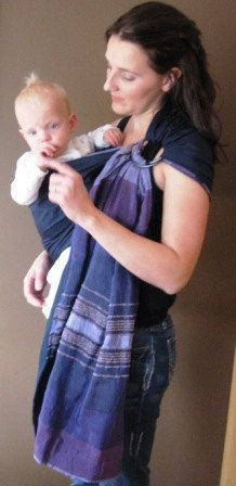 Double layered Silk Ring Sling Reversible Sabra and by UchiWraps