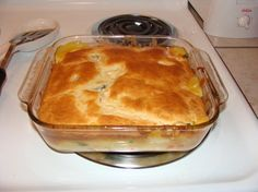 Easy Bisquick Chicken Pot Pie Recipe - 3/13/13 Everyone liked except for Dave it wasn't his favorite because it reminded him of the many processed pot pies his mom made when he was growing up.