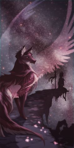 Chantrea - One of Moon-Clan leaders When a Wolf-Clan mate dies, he go to thr Moon-Clan. (Like in Warrior Cats the Star-Clan Anime Wolf, Pet Anime, Anime Animals, Arte Furry, Furry Art, Mythical Creatures Art, Magical Creatures, Mystical Creatures Drawings, Fantasy Wolf