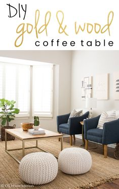 It doesn't matter if you're actually enhancing your mattress, relocating or possessing a filter out, we could definitely gather personal undesirable office funiture. Diy Coffee Table, Diy Table, Wood Table, Gold Diy, Gold Wood, Furniture Collection, Home Living Room, Diy Furniture, Diy Home Decor