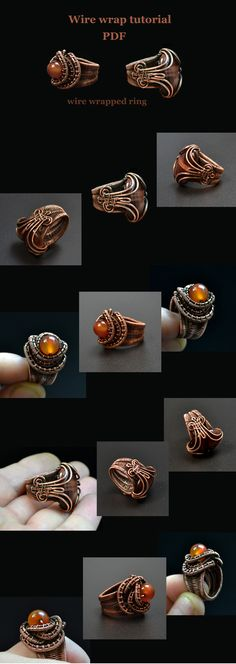 Wire wrap tutorial. Wire wrapped ring. PDF. English. I was planning to write this tutorial forever. The reason was my insistence to the final result, to the item, that we will create together (in this case, the rings). What will it be? Can it be worn or will it be laying on the shelf as another failed experiment? I'd like you to enjoy not only on the creative work with wire, but also to geta high-quality and beautiful product that you can be proud of as the author. This kind of a ring we are