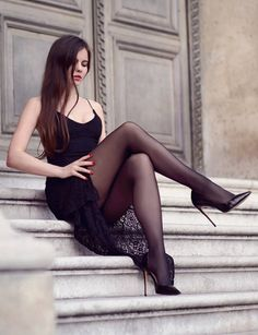Tights Galore aims to be the number one place for tights and pantyhose fashion inspiration. Pantyhose Fashion, Pantyhose Legs, Nylons, Great Legs, Beautiful Legs, Beautiful Dresses, Women Legs, Sexy Women, Black Tights