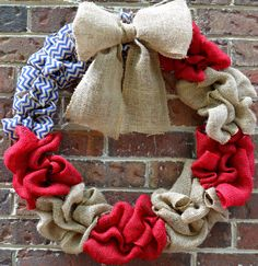 American Flag Burlap Wreath by KsSouthernCharm on Etsy