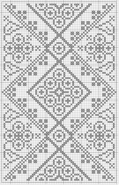 free crochet chart could be  cross stitch