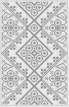 free crochet chart could be  cross stitch